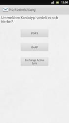 Sony Xperia S - E-Mail - Manuelle Konfiguration - Schritt 7