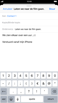 Apple iPhone 6 Plus - iOS 11 - E-mail - E-mails verzenden - Stap 8