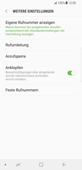 Samsung Galaxy S8 - Android Oreo - Anrufe - Rufumleitungen setzen und löschen - Schritt 7