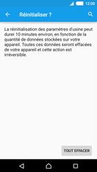 Sony Xperia M4 Aqua - Aller plus loin - Restaurer les paramètres d'usines - Étape 7