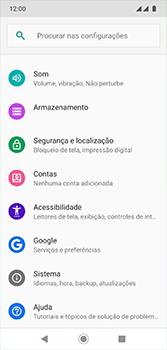 Motorola Moto G7 - Funções básicas - Como restaurar as configurações originais do seu aparelho - Etapa 4