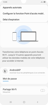 Samsung Galaxy A50 - Internet et connexion - Partager votre connexion en Wi-Fi - Étape 8