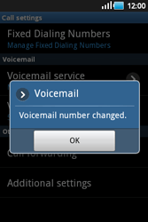 Samsung S5660 Galaxy Gio - Voicemail - Manual configuration - Step 7