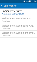 Samsung Galaxy J1 - Anrufe - Rufumleitungen setzen und löschen - 12 / 13