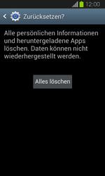Samsung Galaxy Express - Gerät - Zurücksetzen auf die Werkseinstellungen - Schritt 8