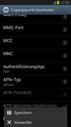 Samsung Galaxy S III - Internet und Datenroaming - Manuelle Konfiguration - Schritt 14