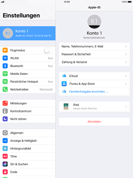 Apple iPad mini 2 - Software - iCloud synchronisieren - 4 / 10