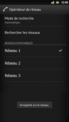 Sony Xperia S - Réseau - Sélection manuelle du réseau - Étape 11