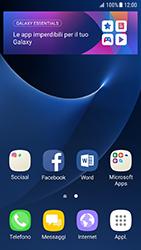 Samsung Galaxy S7 - Android N - Operazioni iniziali - Installazione di widget e applicazioni nella schermata iniziale - Fase 3