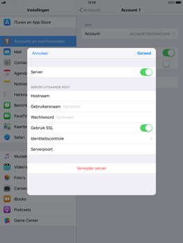 Apple ipad-air-met-ios-11-model-a1475 - E-mail - Instellingen KPNMail controleren - Stap 15