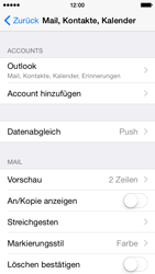 Apple iPhone 5c - iOS 8 - E-Mail - 032c. Email wizard - Outlook - Schritt 10