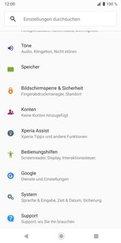 Sony Xperia XZ3 - Fehlerbehebung - Handy zurücksetzen - Schritt 6