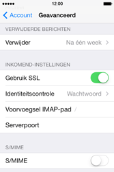 Apple iPhone 4 met iOS 7 - E-mail - Instellingen KPNMail controleren - Stap 24