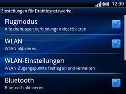 Sony Ericsson Xperia X10 Mini Pro - WLAN - Manuelle Konfiguration - 0 / 0