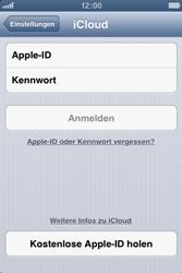 Apple iPhone 4S - Apps - Konfigurieren des Apple iCloud-Dienstes - Schritt 4
