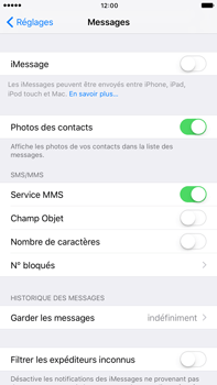 Apple Apple iPhone 6 Plus iOS 10 - iOS features - Envoyer un iMessage - Étape 4