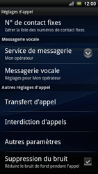 Sony Xperia Ray - Messagerie vocale - Configuration manuelle - Étape 5