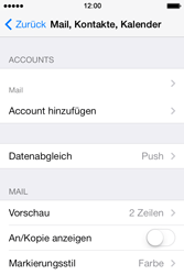 Apple iPhone 4 S mit iOS 7 - E-Mail - Konto einrichten - Schritt 14