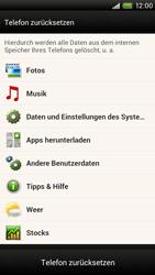 HTC One X Plus - Gerät - Zurücksetzen auf die Werkseinstellungen - Schritt 6