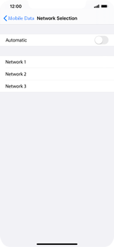 Apple iPhone 11 - Network - Manual network selection - Step 7