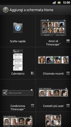 Sony Xperia S - Operazioni iniziali - Installazione di widget e applicazioni nella schermata iniziale - Fase 4