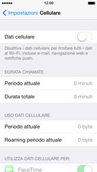 Apple iPhone 5 iOS 7 - Internet e roaming dati - Come verificare se la connessione dati è abilitata - Fase 4