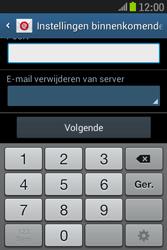 Samsung S6310 Galaxy Young - e-mail - handmatig instellen - stap 11