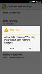 Alcatel Pop C7 - Internet and data roaming - Disabling data roaming - Step 8