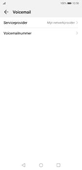 Huawei P20 - Android Pie - voicemail - handmatig instellen - stap 7