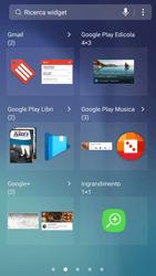 Samsung Galaxy S6 - Android Nougat - Operazioni iniziali - Installazione di widget e applicazioni nella schermata iniziale - Fase 5
