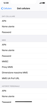 Apple iPhone XS - iOS 13 - Internet e roaming dati - Configurazione manuale - Fase 6