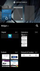HTC One - Operazioni iniziali - Installazione di widget e applicazioni nella schermata iniziale - Fase 4