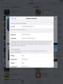 Apple iPad Mini 4 - Applicaties - Account aanmaken - Stap 11