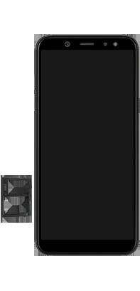 Samsung Galaxy A6 - Toestel - simkaart plaatsen - Stap 8