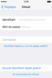 Apple iPhone 4S iOS 7 - Applications - Configuration du service iCloud d