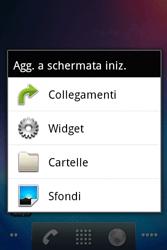 Alcatel OT-983 - Operazioni iniziali - Installazione di widget e applicazioni nella schermata iniziale - Fase 3