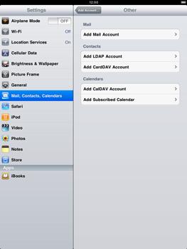 Apple iPad 2 - E-mail - Manual configuration - Step 5