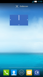 Alcatel One Touch Idol S - Startanleitung - Installieren von Widgets und Apps auf der Startseite - Schritt 8