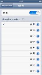 Apple iPhone 5 - WiFi - Configurazione WiFi - Fase 7