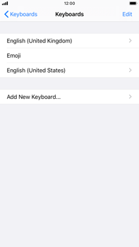 Apple iPhone 8 Plus - iOS 13 - Getting started - How to add a keyboard language - Step 8