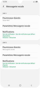 Samsung Galaxy A40 - Messagerie vocale - configuration manuelle - Étape 9