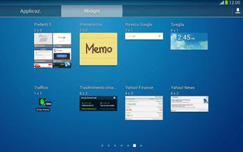 Samsung Galaxy Tab 3 10-1 LTE - Operazioni iniziali - Installazione di widget e applicazioni nella schermata iniziale - Fase 7