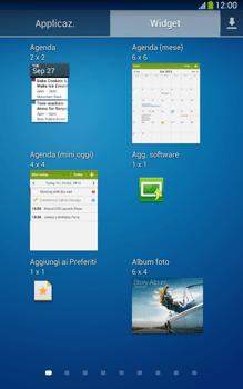 Samsung Galaxy Tab 3 8-0 LTE - Operazioni iniziali - Installazione di widget e applicazioni nella schermata iniziale - Fase 7