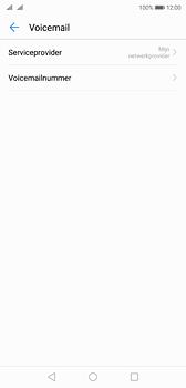 Huawei P20 - Voicemail - Handmatig instellen - Stap 7