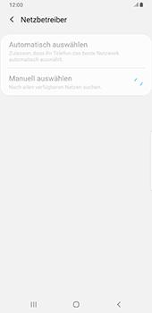 Samsung Galaxy S9 Plus - Android Pie - Netzwerk - Manuelle Netzwerkwahl - Schritt 9