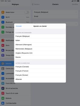 Apple iPad Air (2019) - iPadOS 13 - Prise en main - Comment ajouter une langue de clavier - Étape 7
