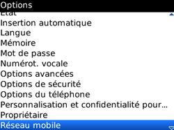 BlackBerry 8520 - Aller plus loin - Désactiver les données à l'étranger - Étape 4