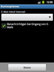 Samsung S5360 Galaxy Y - E-Mail - Konto einrichten - Schritt 12