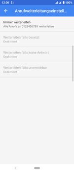Sony Xperia 10 - Anrufe - Rufumleitungen setzen und löschen - Schritt 11