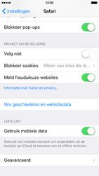Apple iPhone 6 met iOS 9 (Model A1586) - Privacy - Cookies en geschiedenis wissen - Stap 4
